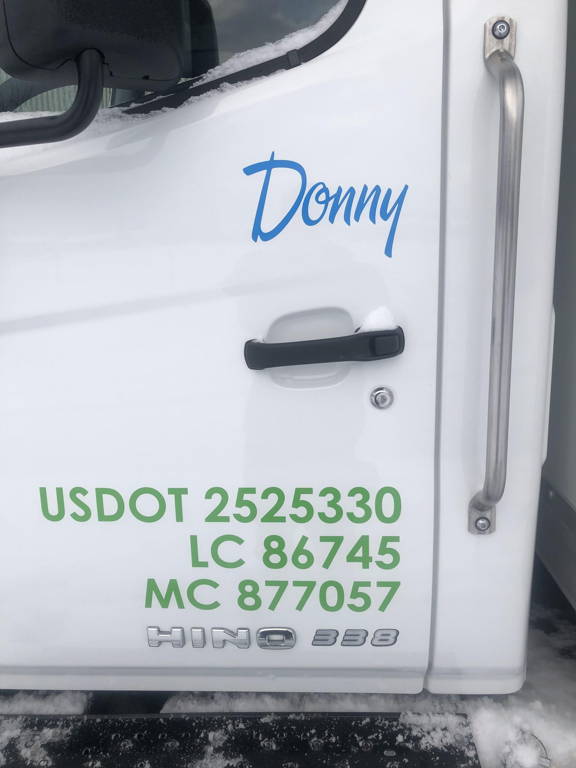 Moving Truck with identification