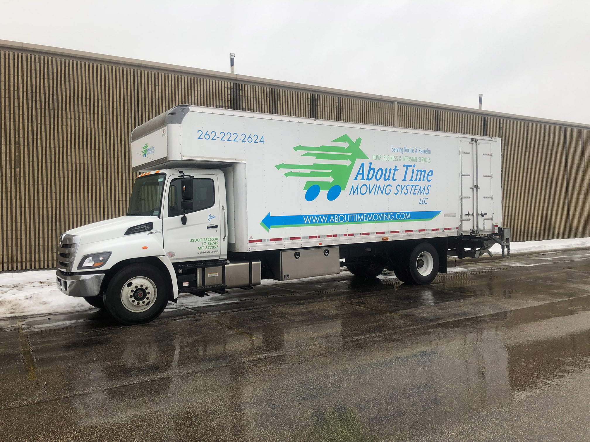 About Time Moving truck in Racine, Wisconsin